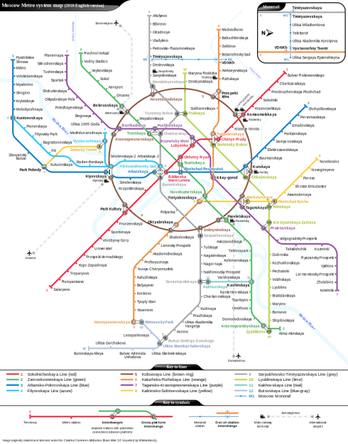 Small version of the Moscow Metro map.  You can see a full and easy-to-read version on Wikipedia.