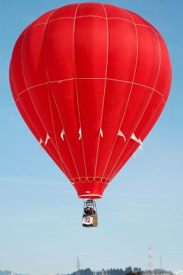 A modern hot air balloon, from Wikipedia, because it seems like I should have one in this post. Photo by Kropsoq.