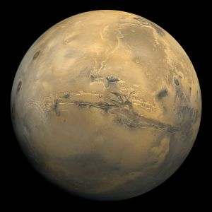 Valles Marineris on Mars. Massive.  Via Wikipedia.