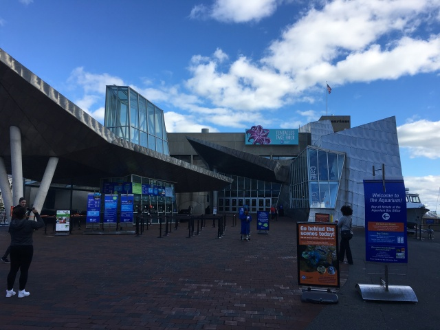 Entrance to the New England Aquarium.