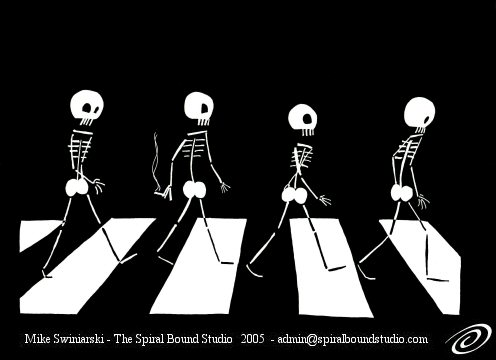Abbey Road and X-rays make an odd combination. Excellent image via Spiral Bound Studios.